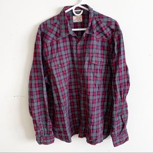 Lucky Brand Classic Fit Flannel Button Up Shirt